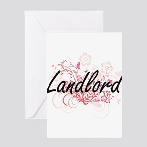 Landlord Artistic Job Design with F Greeting Cards