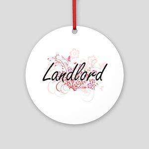 Landlord Artistic Job Design with F Round Ornament