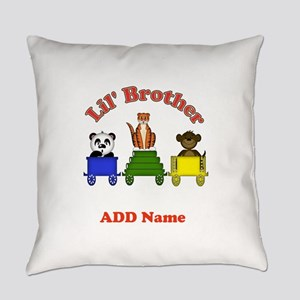 Personalized Brother Zoo Everyday Pillow