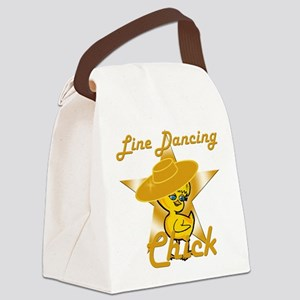 Line Dancing Chick #10 Canvas Lunch Bag