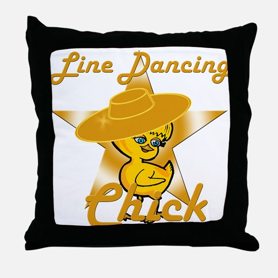 Line Dancing Chick #10 Throw Pillow