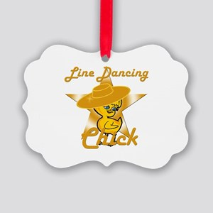 Line Dancing Chick #10 Picture Ornament