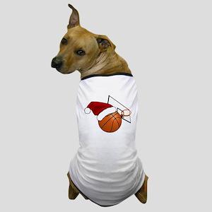 Christmas Basketball Dog T-Shirt