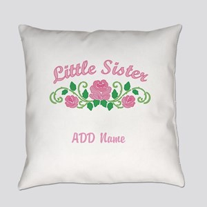 Personalized Little Sister Everyday Pillow
