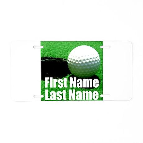 Golfball Aluminum License Plate  sc 1 st  CafePress & Golf Aluminum License Plates - CafePress