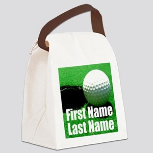 Golfball Canvas Lunch Bag