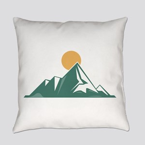 Sunrise Mountain Everyday Pillow