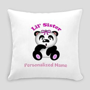 Little Sister Panda Everyday Pillow