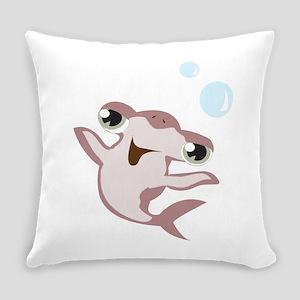 Happy Hammerhead Shark Everyday Pillow