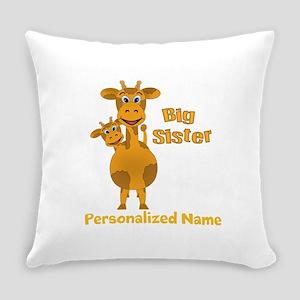 Sisters Giraffes Everyday Pillow