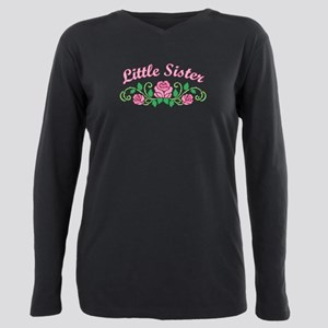 Little Sister Roses Plus Size Long Sleeve Tee
