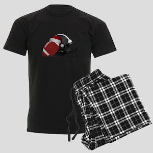 Christmas Football Men's Dark Pajamas