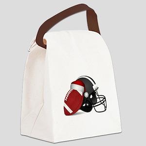 Christmas Football Canvas Lunch Bag
