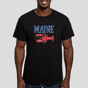 Maine Lobster Men's Fitted T-Shirt (dark)