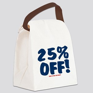 25% OFF - CHEAP AT HALF THE PRICE Canvas Lunch Bag