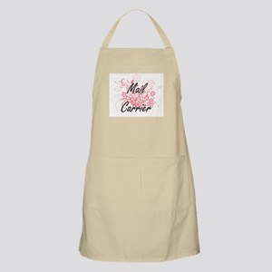 Mail Carrier Artistic Job Design with Flower Apron