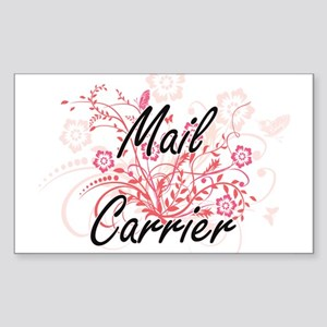 Mail Carrier Artistic Job Design with Flow Sticker