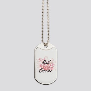 Mail Carrier Artistic Job Design with Flo Dog Tags