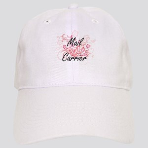 Mail Carrier Artistic Job Design with Flowers Cap