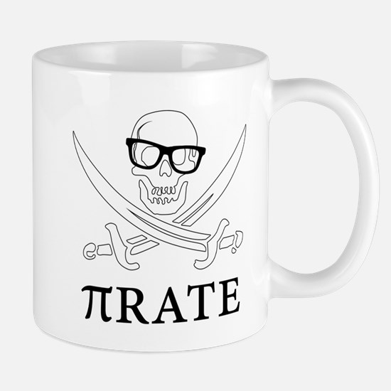 Pi - rate - Geek skull pirate Mugs