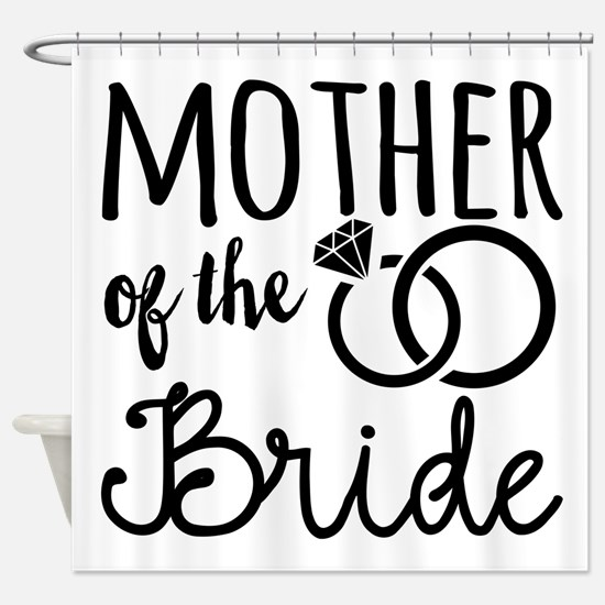 Mother of the Bride Shower Curtain