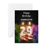 29th birthday cupcake Greeting Cards