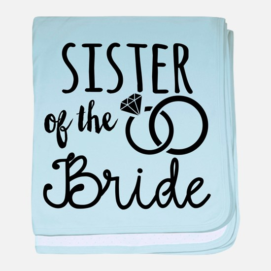 Sister of the Bride baby blanket