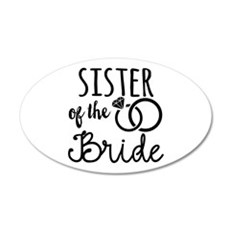 Sister of the Bride Wall Decal