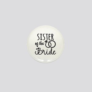 Sister of the Bride Mini Button