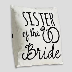 Sister of the Bride Burlap Throw Pillow