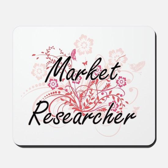 Market Researcher Artistic Job Design wi Mousepad