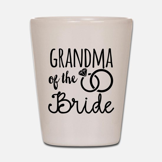 Grandma of the Bride Shot Glass