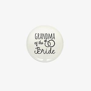 Grandma of the Bride Mini Button