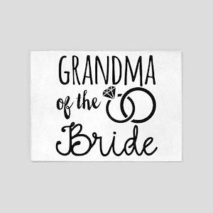 Grandma of the Bride 5'x7'Area Rug