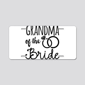 Grandma of the Bride Aluminum License Plate