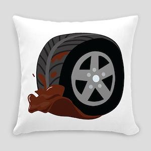 Dirty Wheel Everyday Pillow