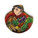 Harvest Girl Button