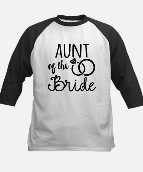Aunt of the Bride Kids Baseball Jersey