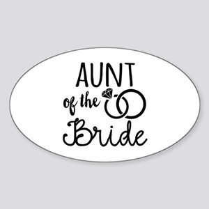 Aunt of the Bride Sticker (Oval)