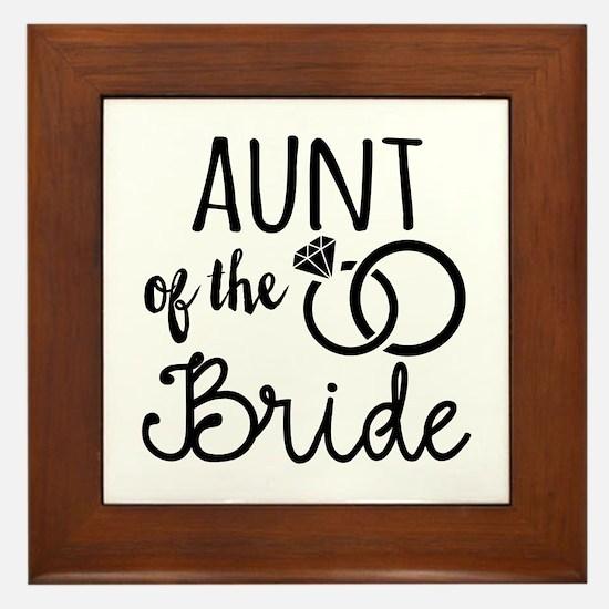 Aunt of the Bride Framed Tile