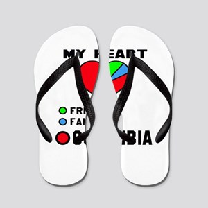 My Heart Friends, Family and Colombia Flip Flops