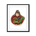 Harvest Girl Framed Panel Print