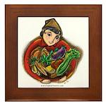 Harvest Girl Framed Tile