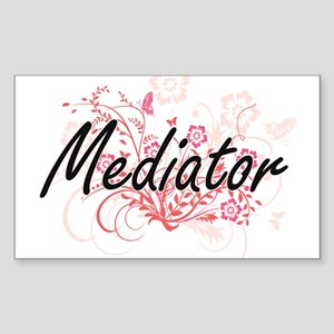 Mediator Artistic Job Design with Flowers Sticker
