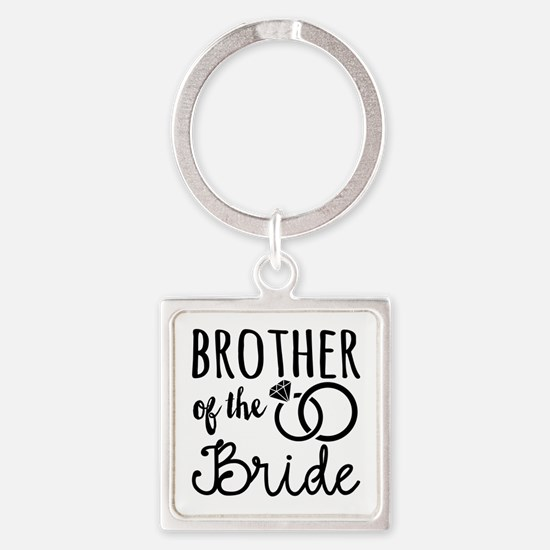 Brother of the Bride Square Keychain
