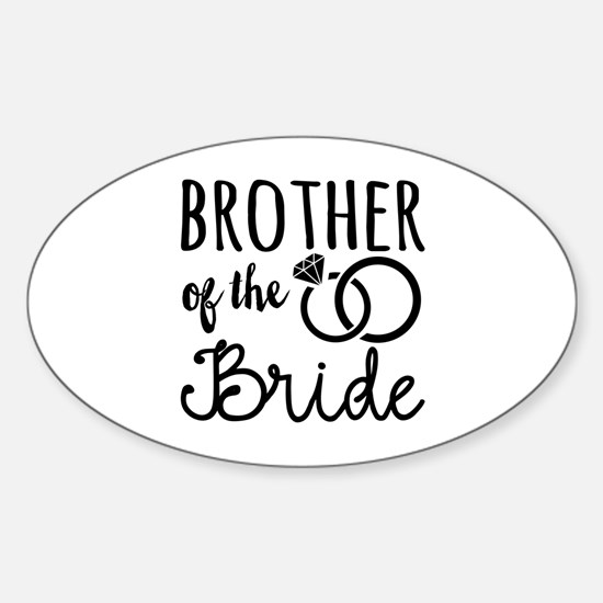Brother of the Bride Sticker (Oval)
