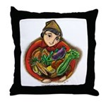 Harvest Girl Throw Pillow