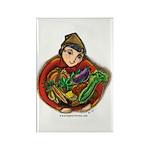 Harvest Girl Rectangle Magnet (100 pack)