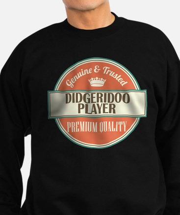 didgeridoo player vintage logo Sweatshirt (dark)