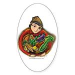 Harvest Girl Sticker (Oval)